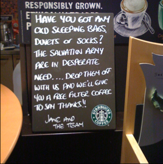"Good to see Starbucks being more ""local"""